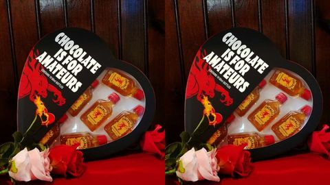 Heart Shaped Boxes Filled With Fireball Shooters Are Available For Valentine S Day