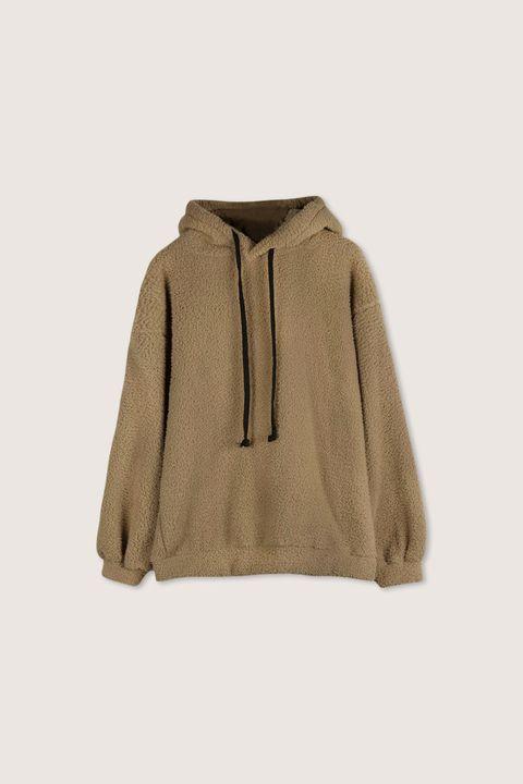 Clothing, Outerwear, Hood, Beige, Sleeve, Khaki, Hoodie, Jacket, Sweater,