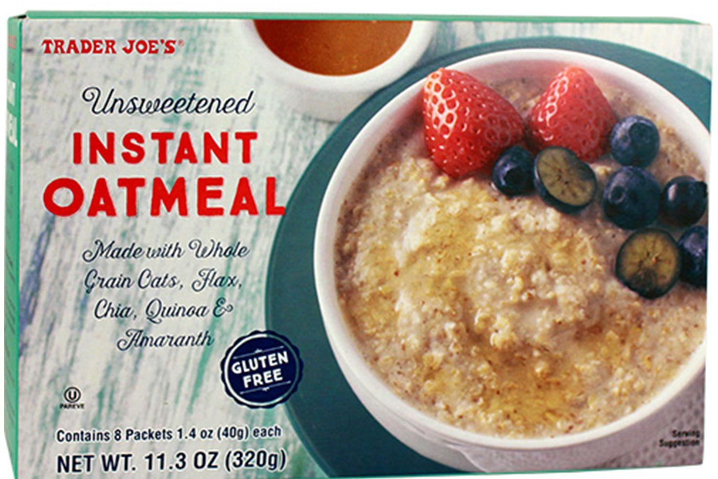 Trader Joe's Unsweetened Instant Oatmeal