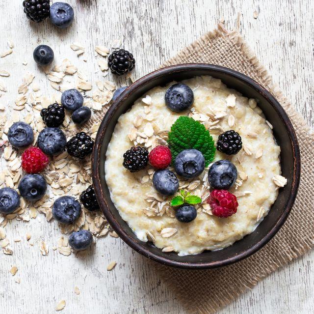 oatmeal porridge with ripe berries