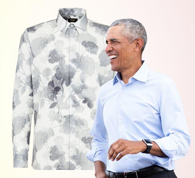 barach obama floral shirt fendi