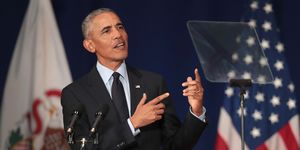 Former President Obama Accepts The Paul H. Douglas Award For Ethics In Government At The University Of Illinois