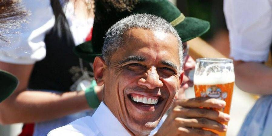 obama, bier,