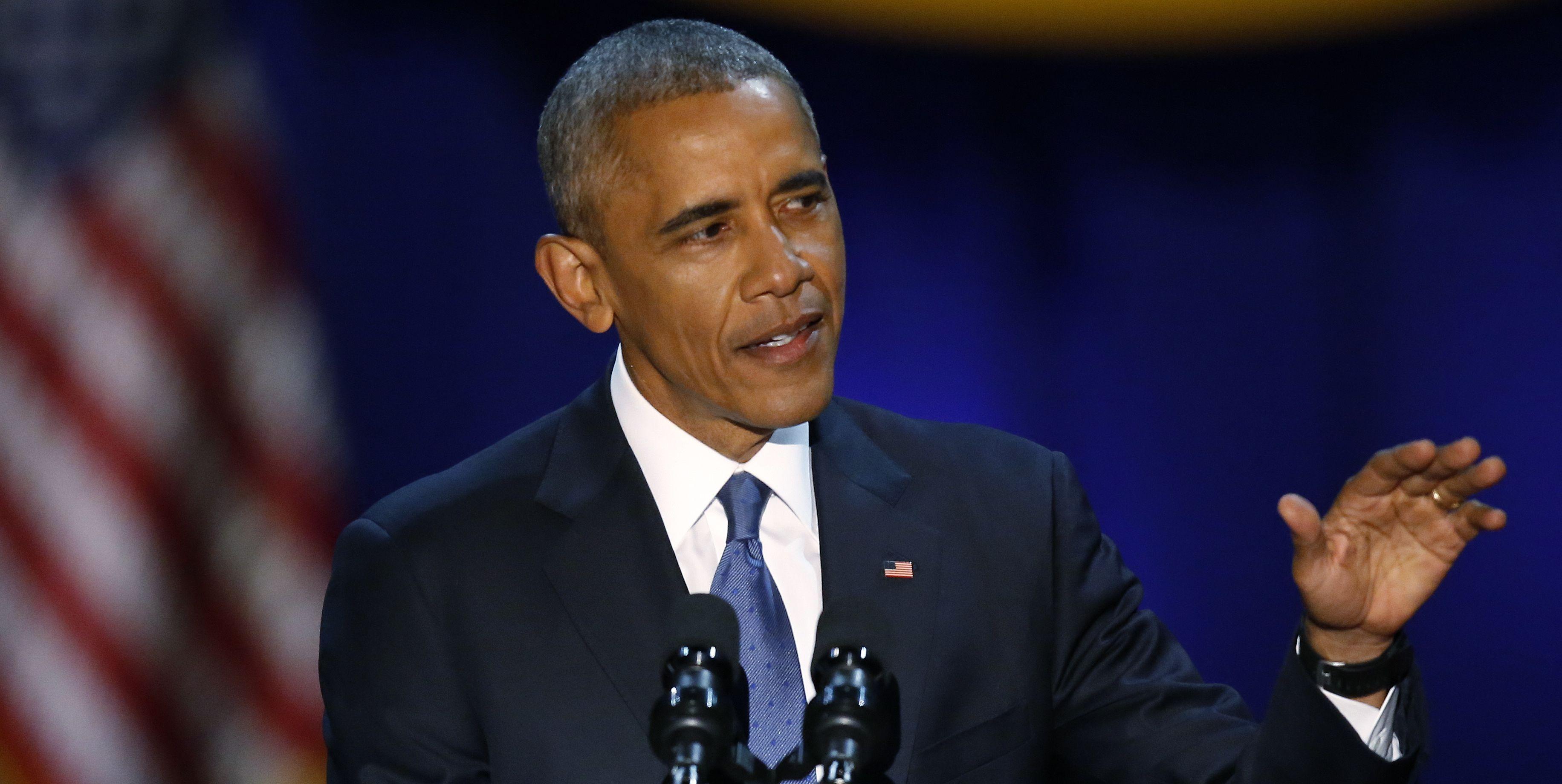Here's the Full Transcript of Obama's Farewell Address