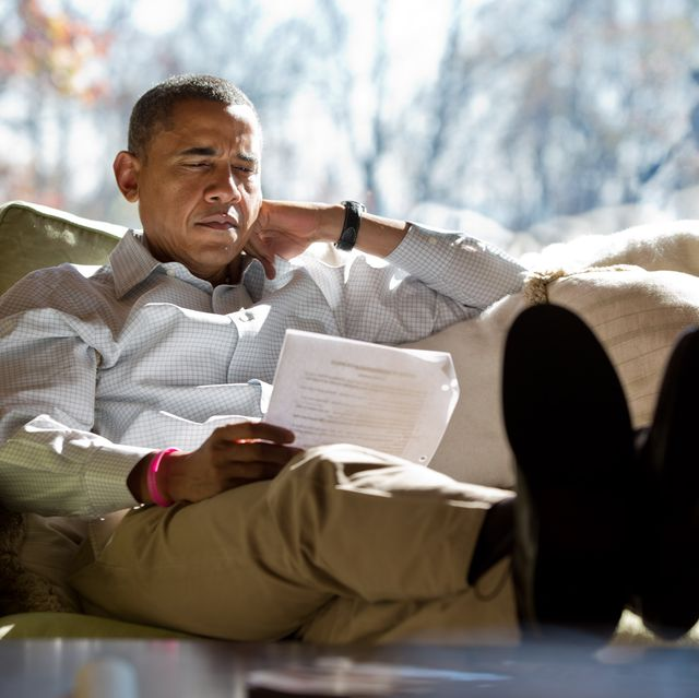 President Obama Meets Advisors At Camp David