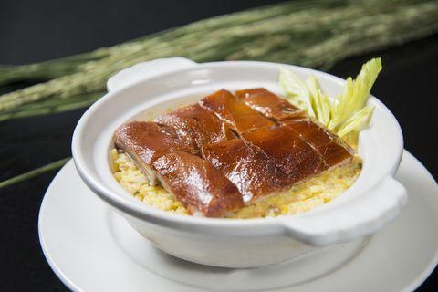 烤乳豬金瓜蔬菜奶油飯