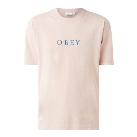 obey smith tshirt met logoborduring