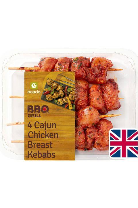 ocado 4 cajun chicken breast kebabs