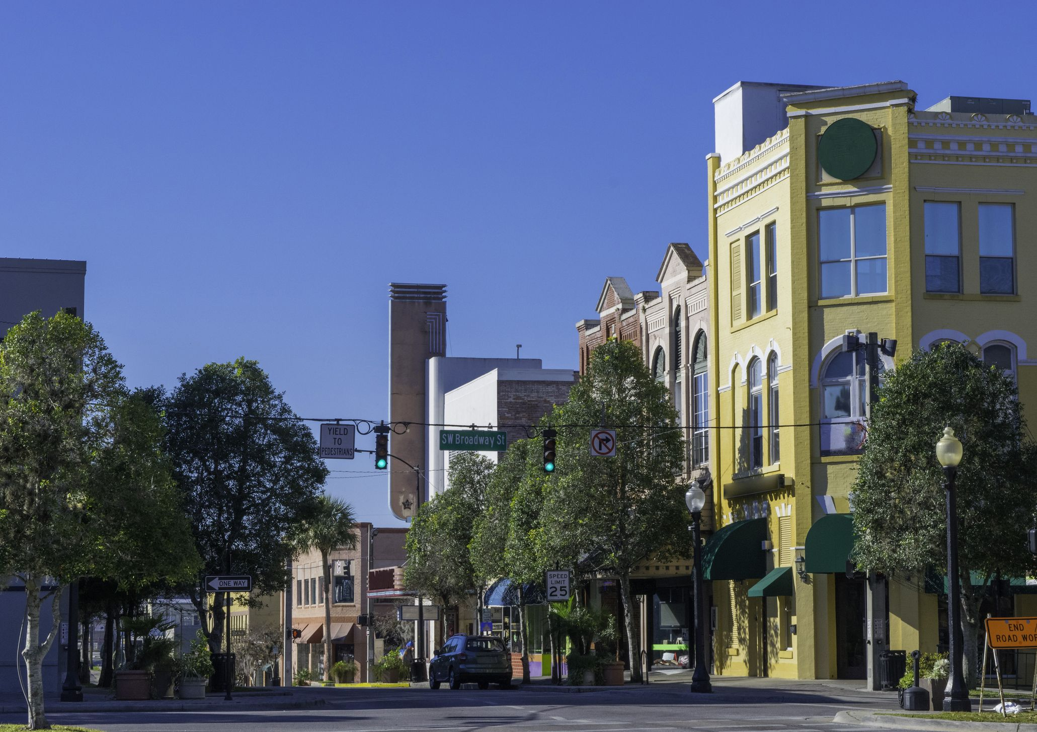Historic Downtown Buildings in Southern USA