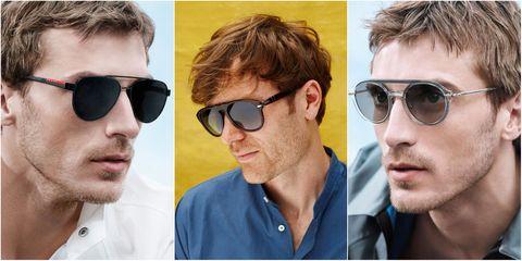 Eyewear, Sunglasses, Hair, Glasses, Face, Cool, Chin, Facial hair, Hairstyle, aviator sunglass,