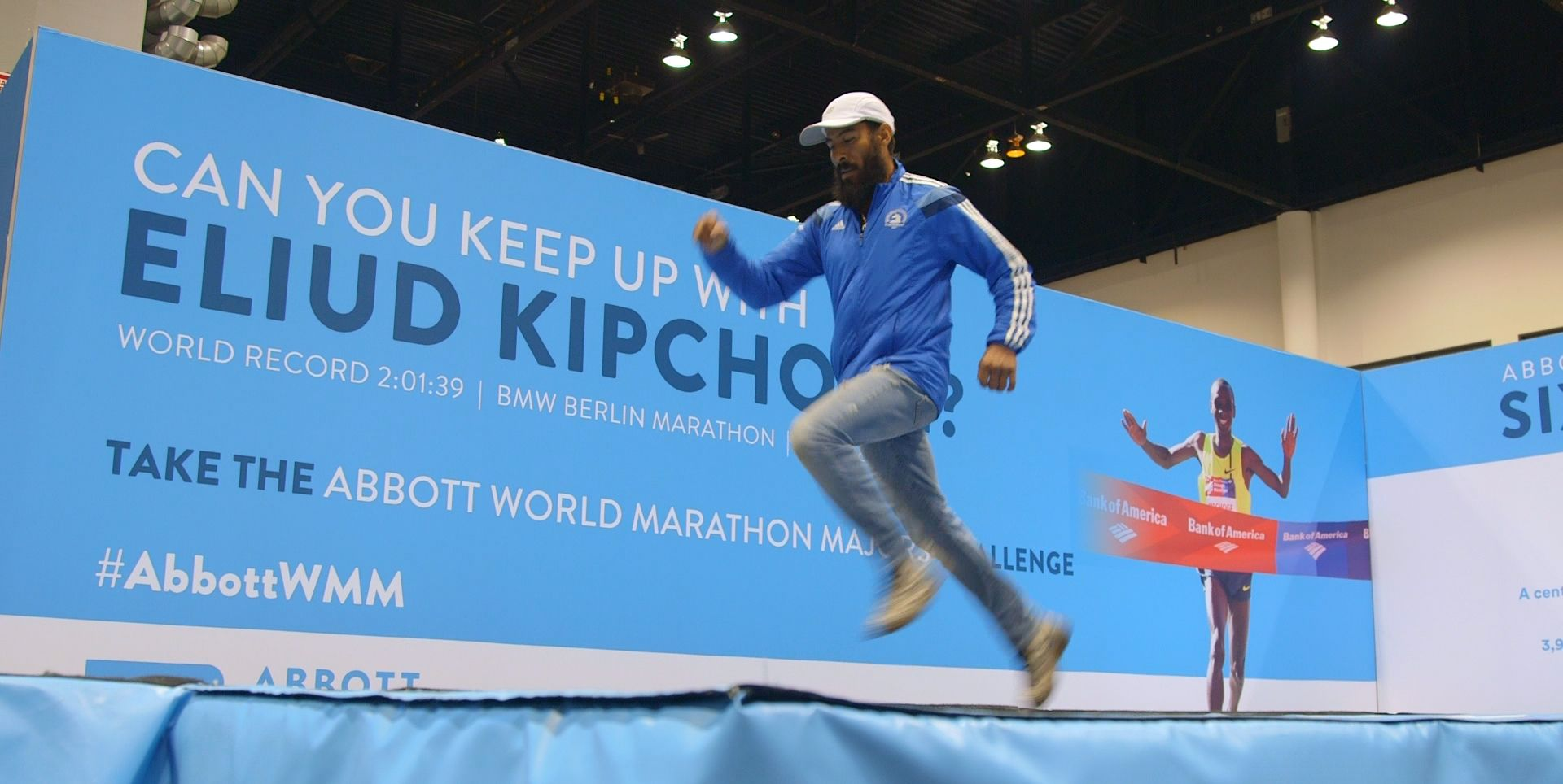 Attendees of the 2018 Chicago Marathon expo attempted a feat no human has been able to do since 2013: Run the same pace as Eliud Kipchoge.