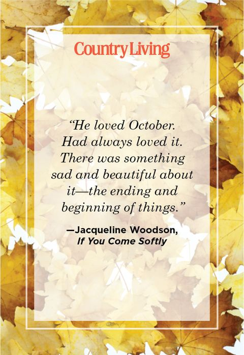 quote about october by jacqueline woodson from if you come softly