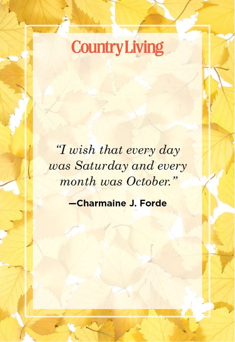 quote about october from charmaine j forde