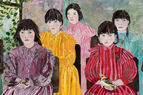 People, Painting, Art, Child, Event, Visual arts, Illustration, Child art, Watercolor paint,