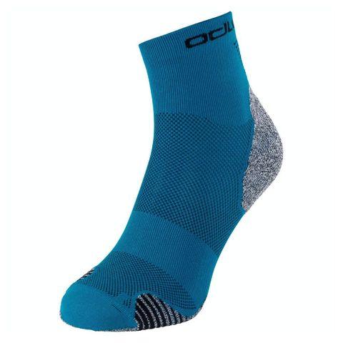 odlo ceramicool quarter socks sokken blauw hardloopsokken hardlopen hardloopkleding