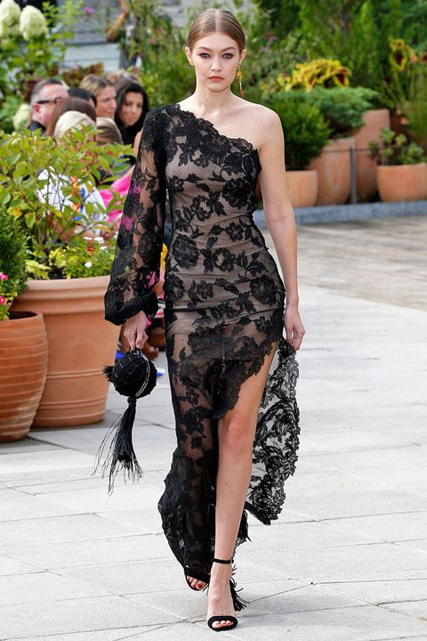 Fashion model, Fashion, Clothing, Shoulder, Fashion show, Runway, Haute couture, Dress, Footwear, Joint,