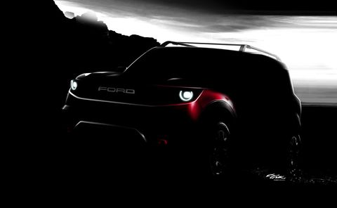 2020 Ford Bronco Sport teaser unnamed off-road vehicle