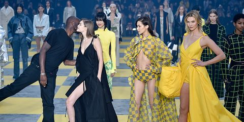Yellow, Event, Fashion, Dress, Fashion design, Fun, Performance, Haute couture, Gown, Performance art,
