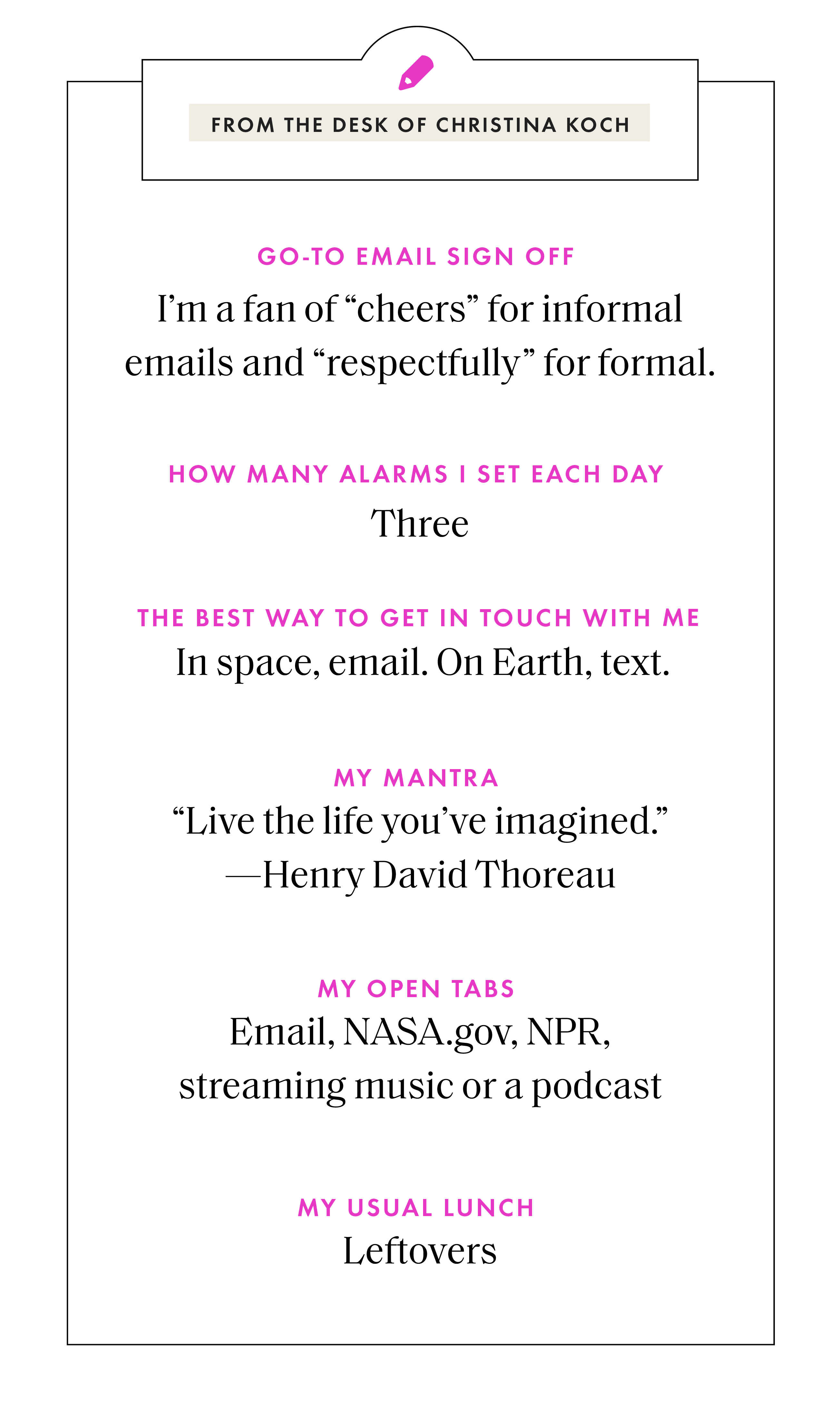 NASA Astronauts Christina Koch and Jessica Meir on Self Care in Space and Being a Good Work Wife