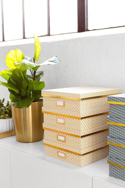 office organization ideas - storage boxes