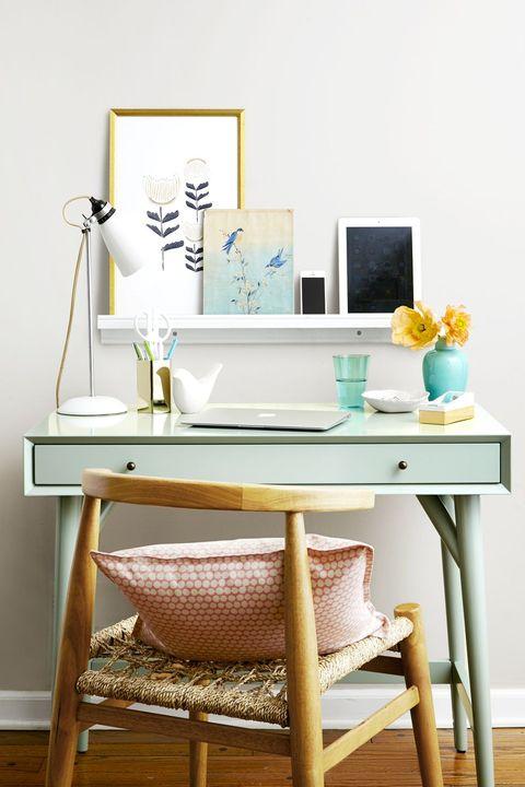 office organization ideas - desk shelf