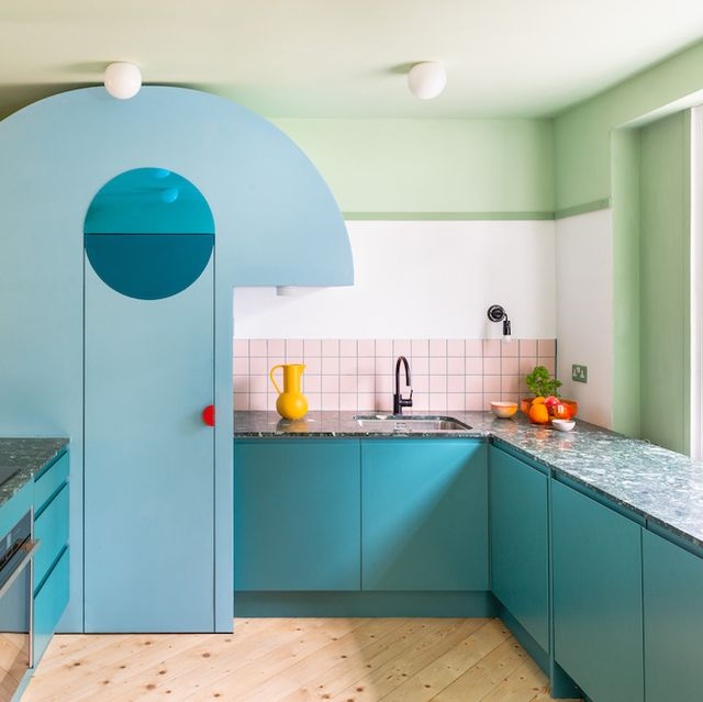 kleurrijke keukens