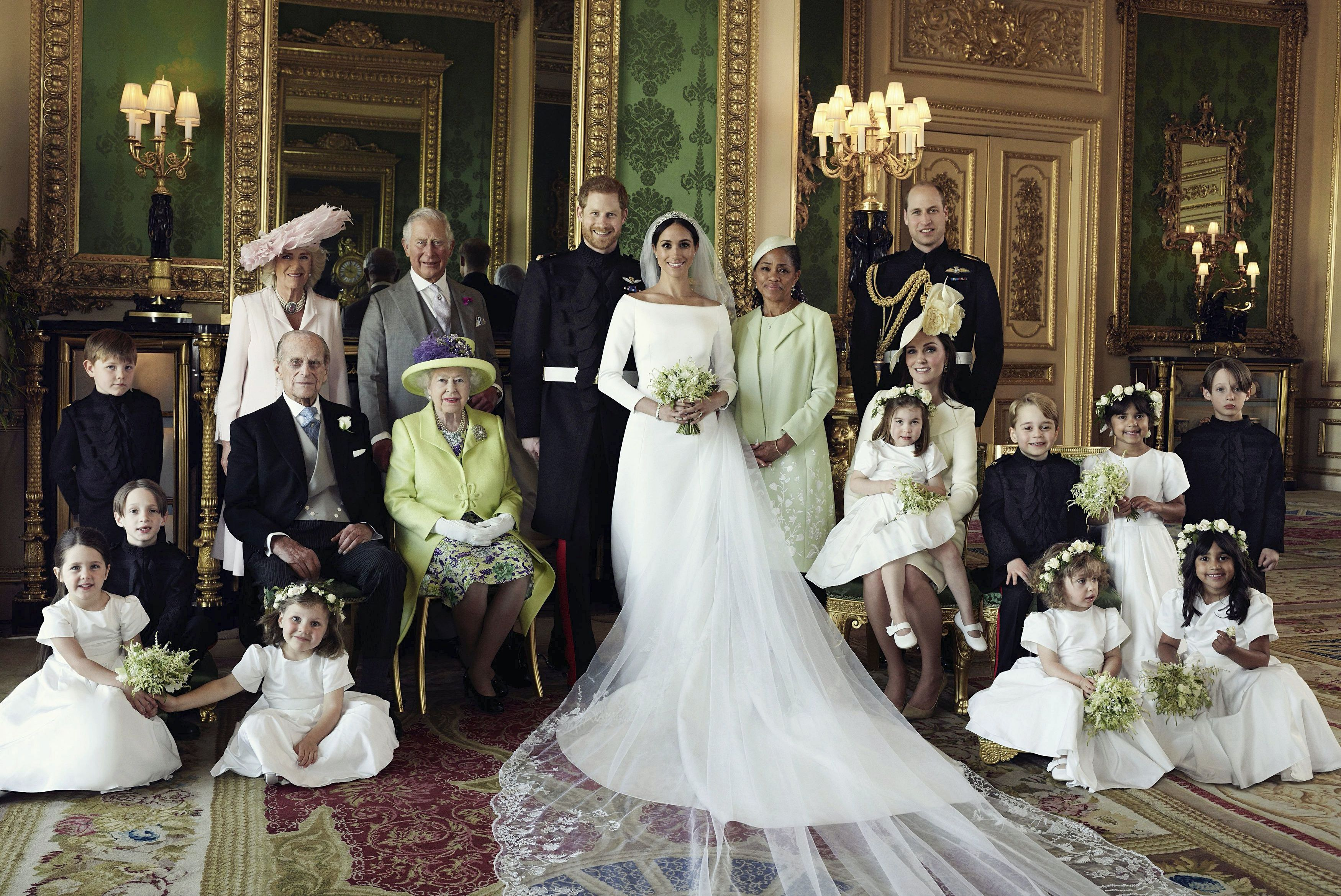 Why It's Significant Where Everyone Is Standing in the Official Royal Wedding Family Portrait