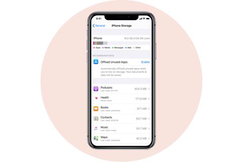 giảm tải ứng dụng không sử dụng apple apple