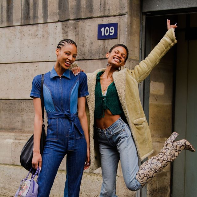 Jeans, Blue, Denim, Clothing, Street fashion, Fashion, Fun, Standing, Human, Textile,