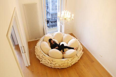 超浮誇「巨型鳥巢」沙發設計席捲全球!