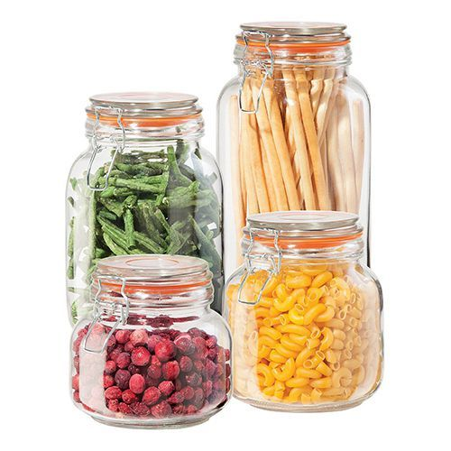 Oggi 4 Piece Airtight Glass Canister Set  sc 1 st  BestProducts.com & 15 Best Glass Storage Containers for Your Food - Glass Storage ...