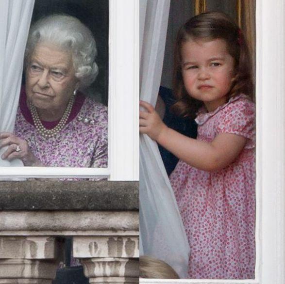 シャーロット王女&エリザベス女王