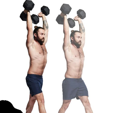 Weights, Exercise equipment, Shoulder, Standing, Arm, Physical fitness, Muscle, Kettlebell, Joint, Sports equipment,