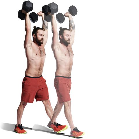 Weights, Exercise equipment, Shoulder, Dumbbell, Physical fitness, Standing, Kettlebell, Arm, Barbell, Sports equipment,