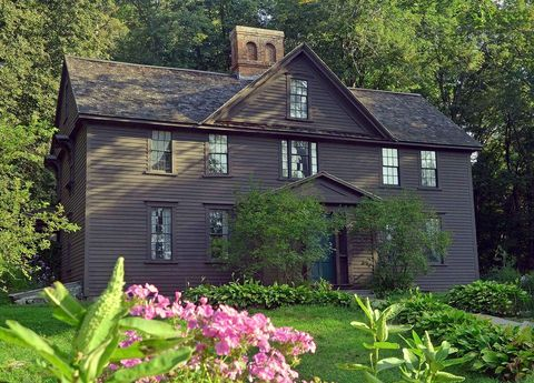House, Home, Property, Building, Cottage, Natural landscape, Real estate, Spring, Botany, Plant,