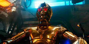 ojos rojos C3PO Star Wars