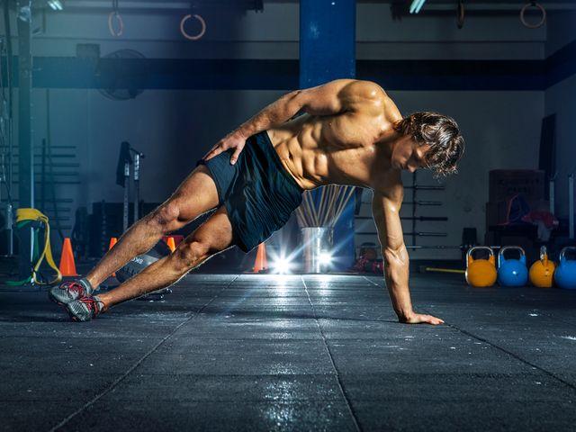 abdominal lateral com peso