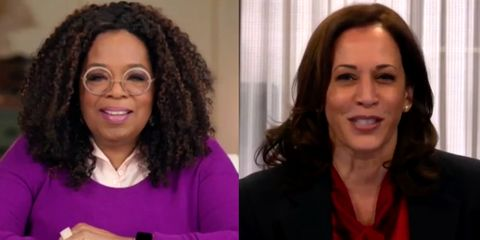 Sen Kamala Made A Surprise Appearance On Oprah S Town Hall