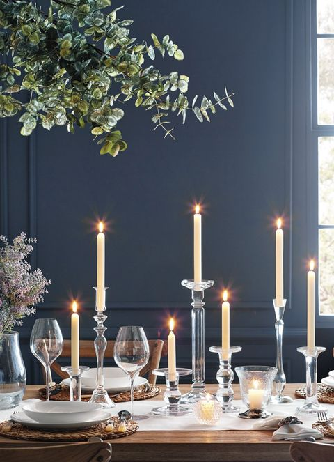 Table, Room, Branch, Lighting, Candle, Dining room, Furniture, Interior design, Rehearsal dinner, Centrepiece,