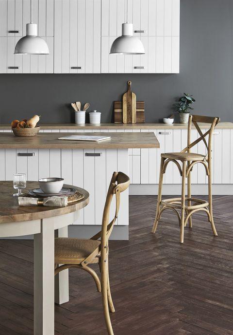 Furniture, Room, Table, Floor, Interior design, Tile, Flooring, Wood, Material property, Chair,