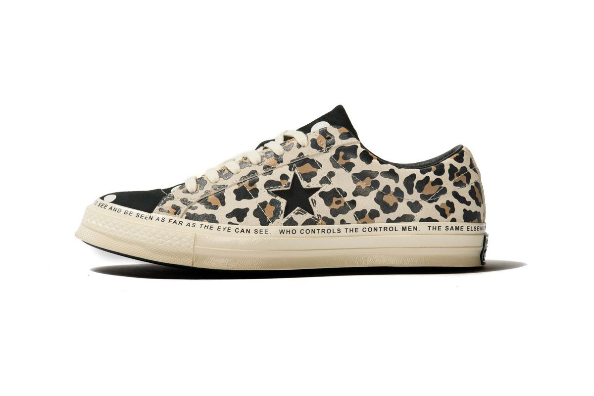 converse de leopardo y lunares