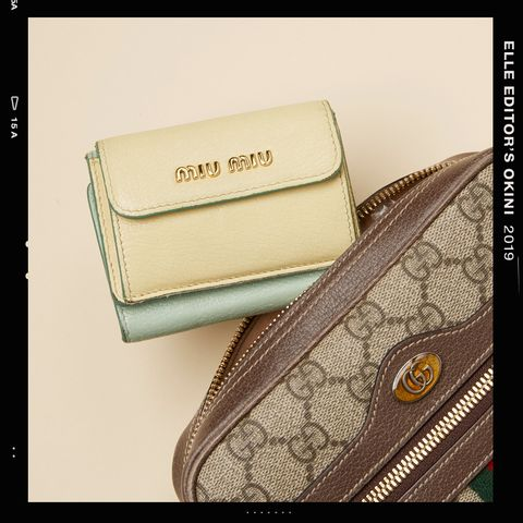 Fashion accessory, Wallet, Beige, Material property, Bag, Coin purse, Handbag, Rectangle, Brand,