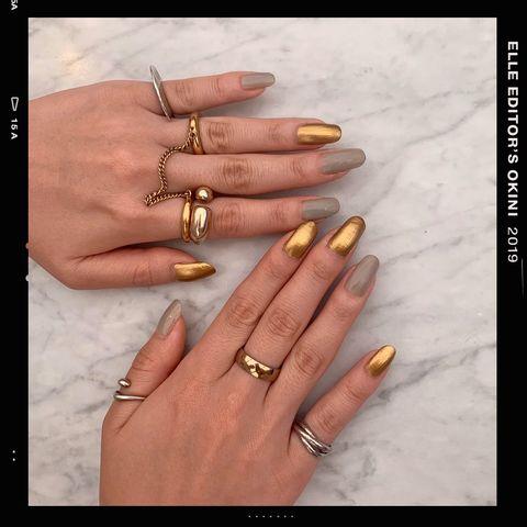 Finger, Nail, Hand, Nail care, Manicure, Skin, Cosmetics, Ring, Nail polish, Wedding ring,