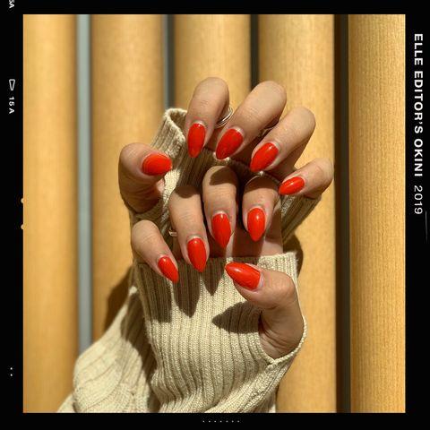 Nail, Finger, Red, Hand, Nail polish, Nail care, Manicure, Beauty, Love, Photo caption,