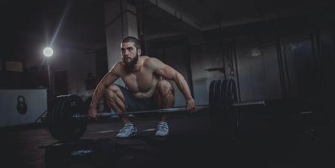 hombre squats