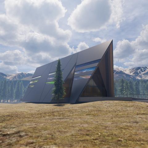 Architecture, Sky, Mountain, Tree, House, Landscape, Screenshot, Mountain range, Building, Cloud,