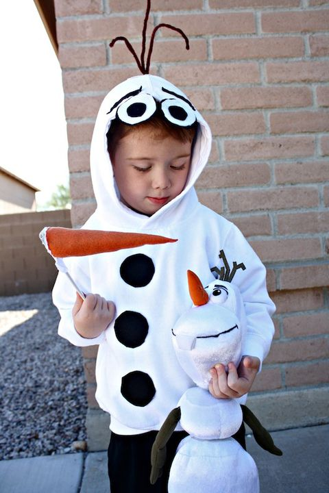 olaf diy halloween costume for kids