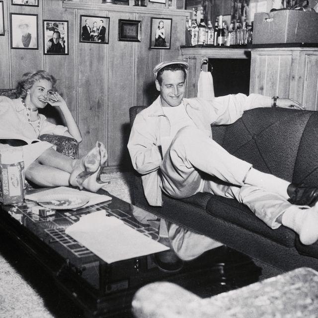 پل نیومن و جوآن وودوارد در خانه استراحت می کنند