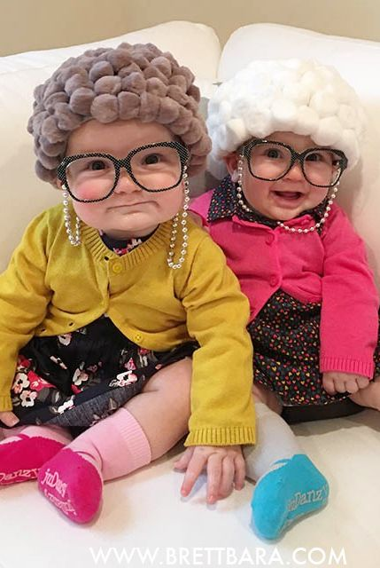 old lady baby twin sister costumes