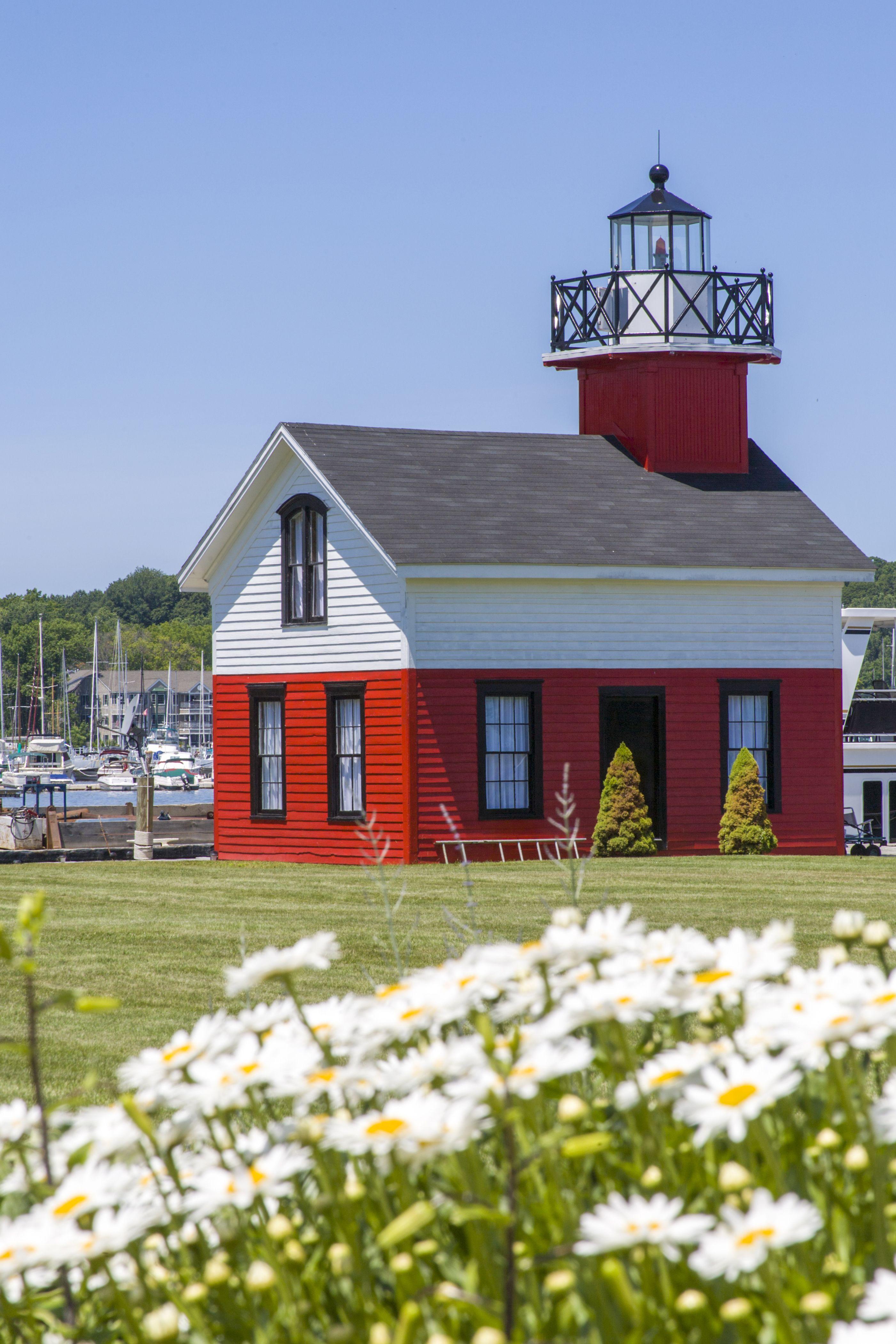 Old Lighthouse on Lake Kalamazoo, Saugatuck, West Michigan, USA